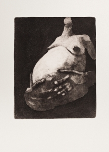 """With Child (black)"" Aquatint print. 2005"
