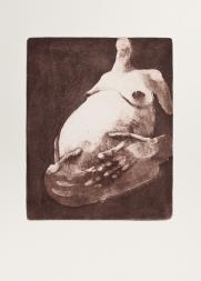 """With Child (brown)"" Aquatint print. 2005"