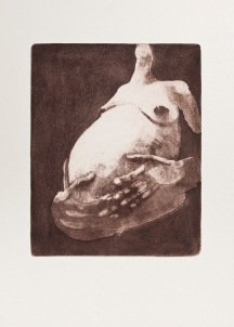 """With Child (brown)"" Aquatint print. 2005"