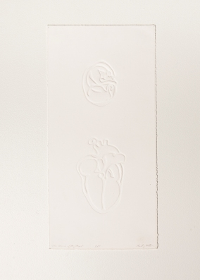 """Mouse of my Heart"" Embossed paper. 2005"