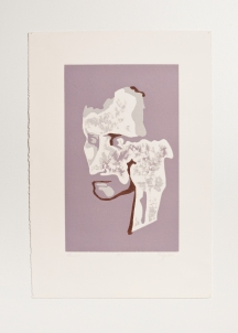 """Dennis"" Woodblock print. 2005"