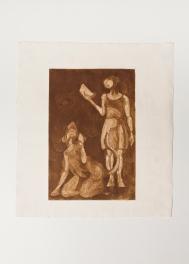 """""""Teresa and Teresa as a Rat"""" Aquatint print. 2005"""