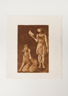 """Teresa and Teresa as a Rat"" Aquatint print. 2005"
