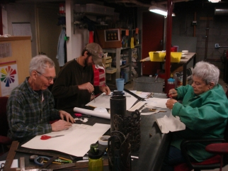 Plasma Cut Lamps- Waterstreet Glassworks Studio. 2012