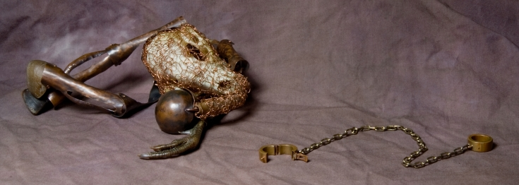 """""""Nightmare Pony"""" Copper, animal remains. 2004"""