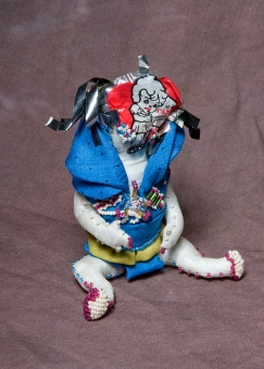 """Genie"" Fabric, beads, plastics. 2005"