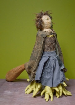 """""""The Other Mother"""" Wool, fabric, wood, glass, plastics, found materials. 2005"""