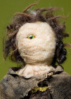 """""""The Other Mother"""" Detail. Wool, fabric, wood, glass, plastics, found materials. 2005"""