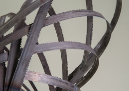 """Jaws"" Detail. Steel, saw blades. 2012"
